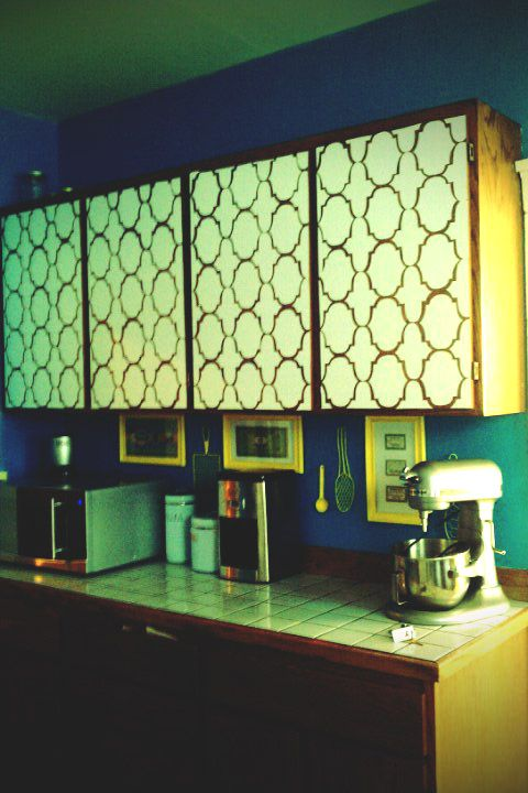 Ugly Kitchen Cabinets In Your Apartment Use Contact Paper To Hide Them When You