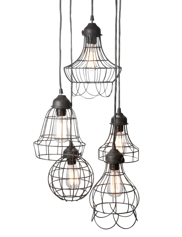Wire five light pendant lamp for kitchen or dining room im thinking dining room im looking to find something red for the kitchen