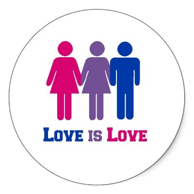 Bisexual Love. I'm not confused. I'm bi. You're the one that's confused.