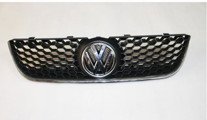 83.55$  Watch now - http://ali8qo.worldwells.pw/go.php?t=32356950178 - Sporty Honey Comb Front Grille With Chrome GTI Edge For VW Polo 9N3 83.55$