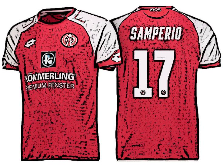 FSV Mainz 05 Kit Jersey For Cheap jairo samperio 17-18 Home Shirt