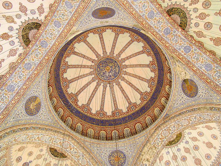 blue mosque ceiling tiles