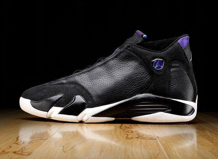 air jordan 14 ray allen bucks black purple Ray Allens Air Jordan 14 PE for the 98 99 Season