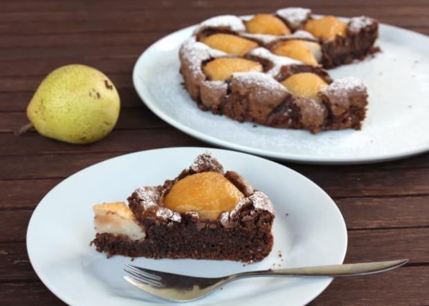 Čokoládový koláč s hruškami - Recepty Naničmama.sk