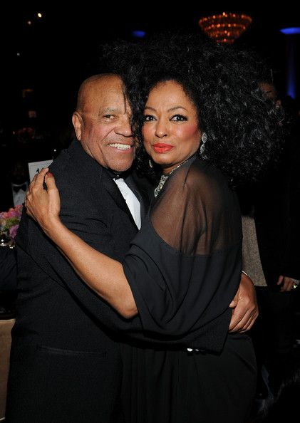 berry gordy | Berry Gordy Berry Gordy (L) and Actress/singer Diana Ross attend Clive ...