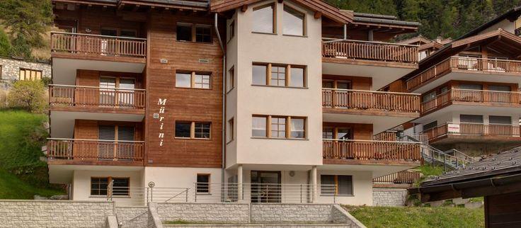 Cloud 9 -huoneisto sijaitsee Zermatin hiljaisemmassa kaupunginosassa.