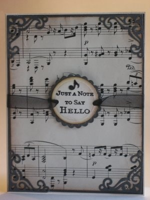 Sheet Music Christmas Cards