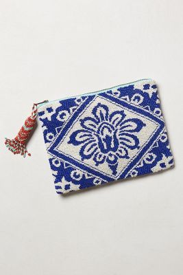 Perfect jeans companion : Anthro Beaded Bali pouch