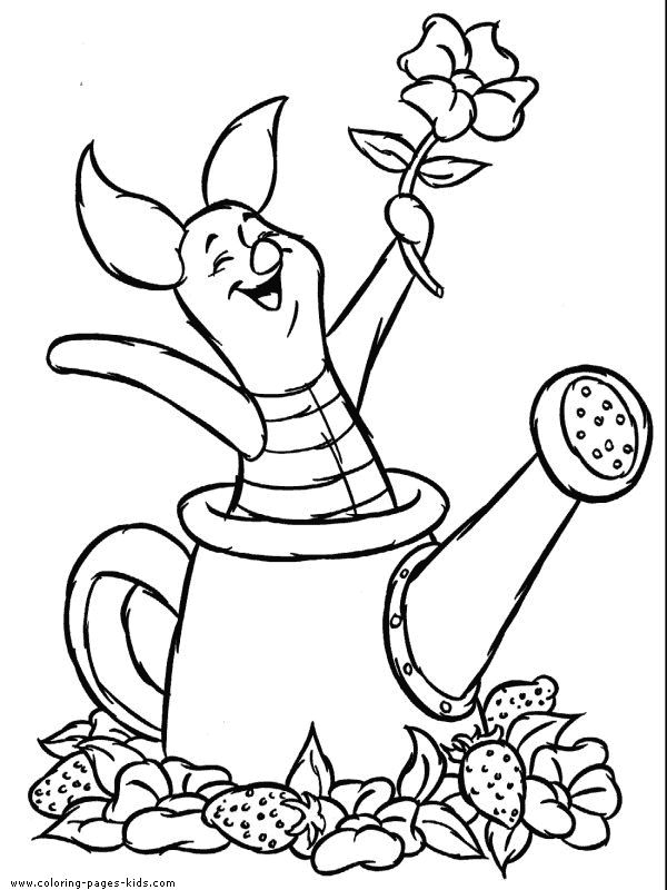 piglet winnie the pooh color page disney coloring pages color plate coloring sheet - Colouring Pages Cartoon Characters