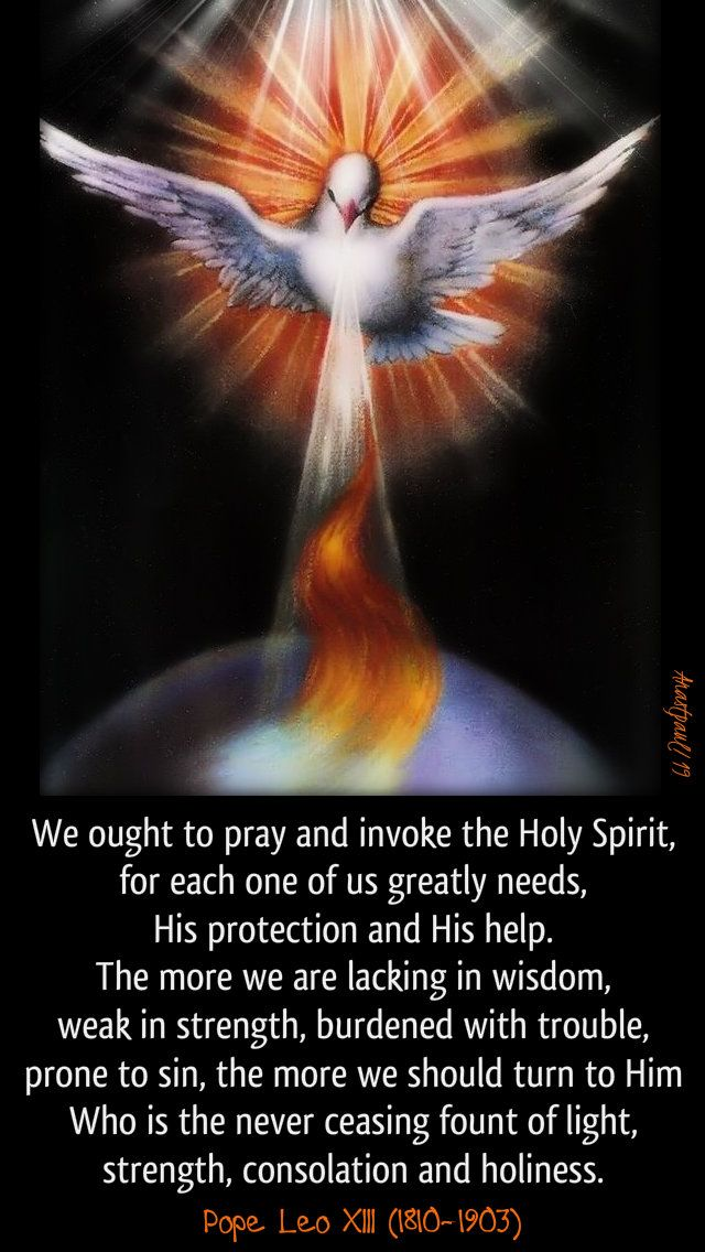 Pentecost Novena to the Holy Spirit - Day one - 31 May ...
