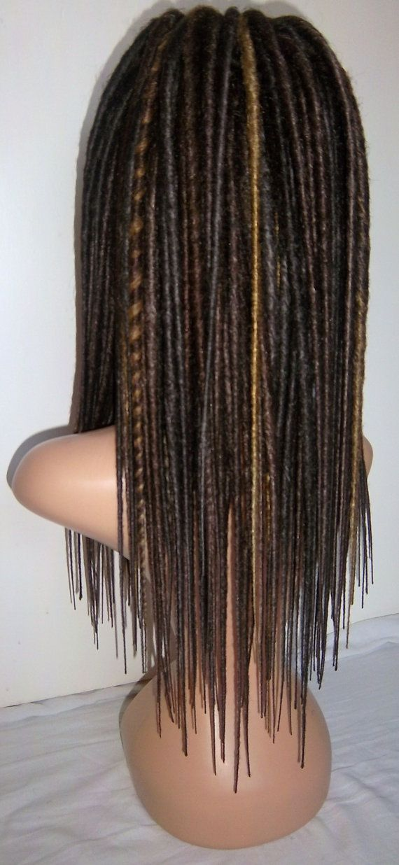 full head 60 double ended dreads synthetic dreadlocks by LoxStock