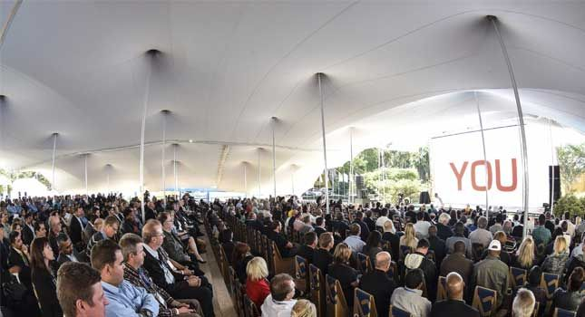 See how stretch tents can be used for conferences.
