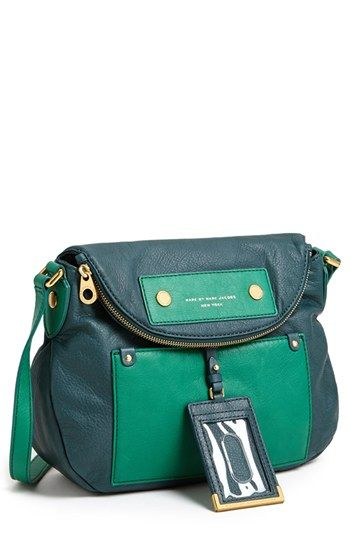MARC BY MARC JACOBS 'Preppy Colorblock - Natasha' Leather Crossbody Bag available at #Nordstrom