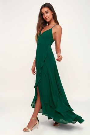 d4cae9f0ecd Beautiful Dark Green Dress - Maxi Dress- Backless Maxi Dress