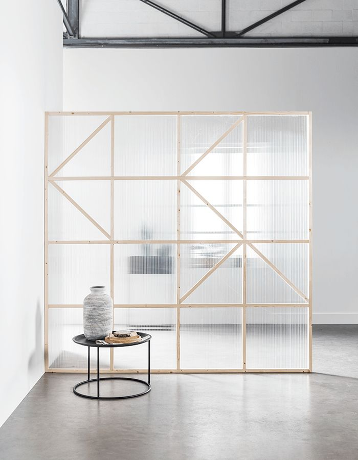 DIY transparent room divider | Karwei