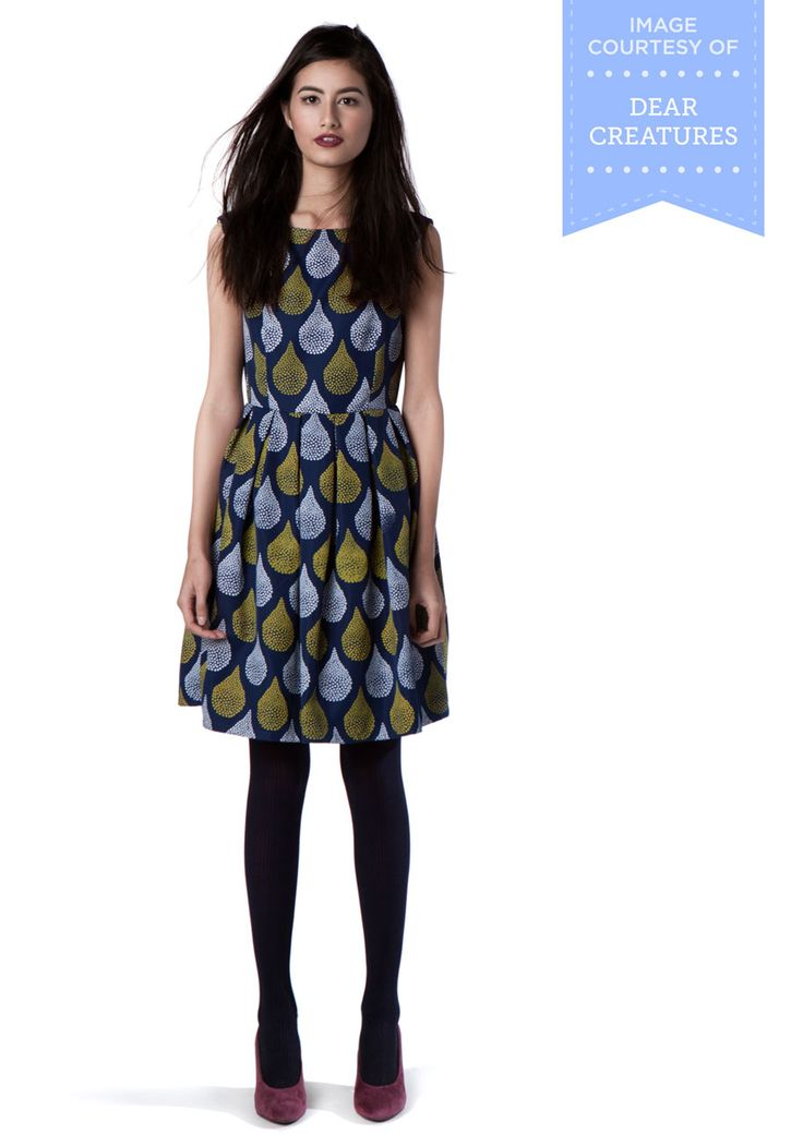 Dear Creatures Dropping By for a Visit Dress. Dressed in this pocketed fit-and-flare dress by Dear Creatures, you make the rounds at your closest friends flats just to show it off - and to catch up, of course! #blue #modcloth