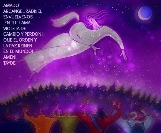 Arcángel Zadquiel ~ Llama Violeta