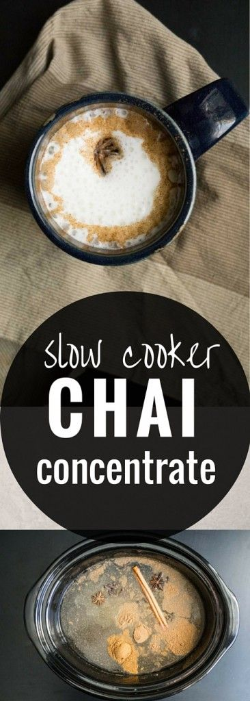 With this recipe for a Slow Cooker Chai Concentrate, you control the sweetness! Keep this in the fridge and you'll have a chai latte ready in only a few minutes.