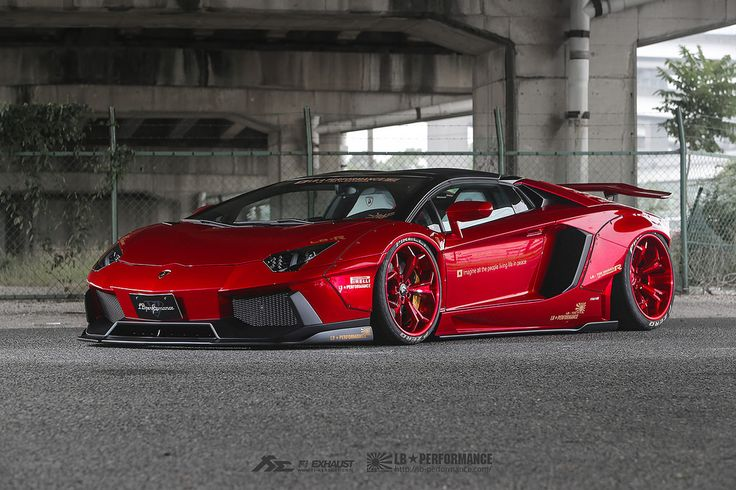 https://flic.kr/p/J5PX2c | Bloody Red Liberty Walk Lamborghini Aventador LP700 with Fi Exhaust