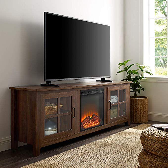 We Furniture Fireplace Tv Stand 70 Dark Walnut Review Walnut Furniture Living Room Walnut Living Room Fireplace Tv Stand