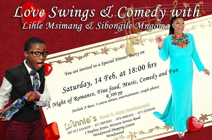 Join us for a night of Romance, Good Music, Comedy and Fun on the 14th of Feb @ Winnies Soul and Jazz
