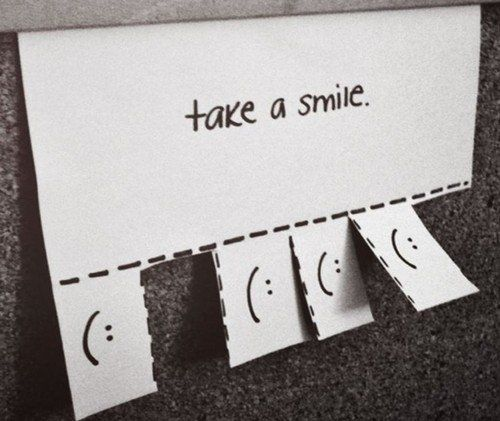 smile:): Inspiration, Quotes, Happy, Cute Ideas, Bulletin Boards, Random, Things, Diy, Take A Smile