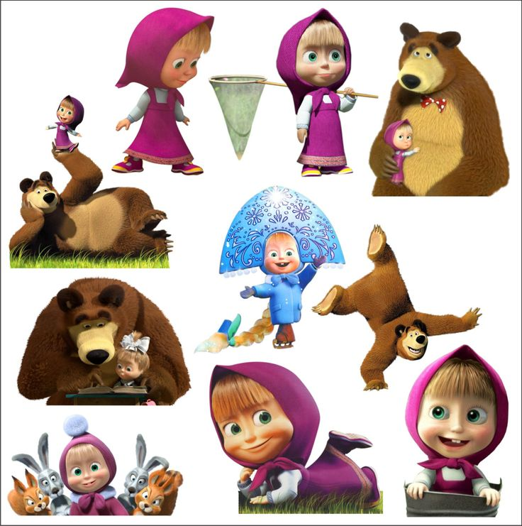 Set of 10 Masha And The Bear 11 Stickers Decal Colour Vinyl Car LapTop Baby Toy Notebook Room Children Wall Box Glass by SlavGraphics on Etsy