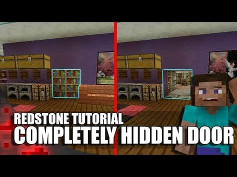 Minecraft Completely Hidden Redstone Jeb Door Youtube Minecraft