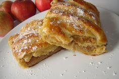 Strudel cu mere (salvat pt. ingredientele foietajului si pt. impletitura)