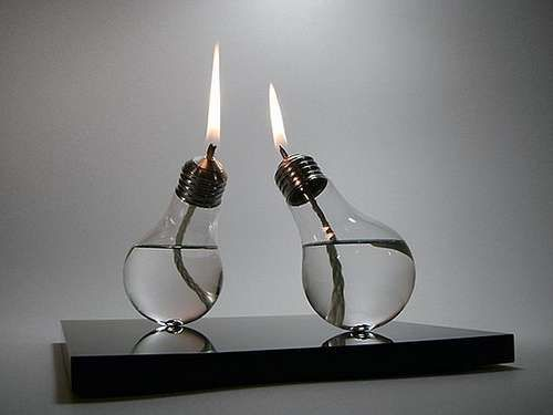 Neat idea for oil lamps