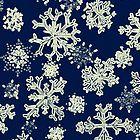 Snowflakes (blue) by AdrianaMijaiche