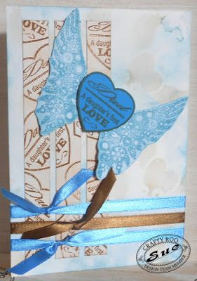 A beautiful handmade/stamped fathers day card from a daughter made by Design Team Member Sue!