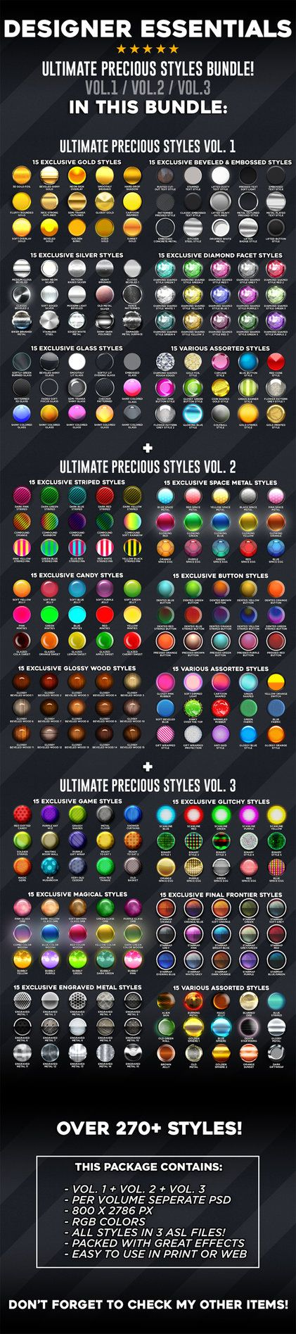 Finally 3 of the biggest text-effect volumes are combined! Enjoy more then270 stylish text-effectsthat can also be combined into infinite combinations. More then400 MB.of te...