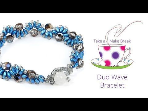Duo Wave Bracelet | Take a Make Break with Beads Direct  Materials: SuperDuos  6mm Beads  Size 8 Seed Beads  Clasp