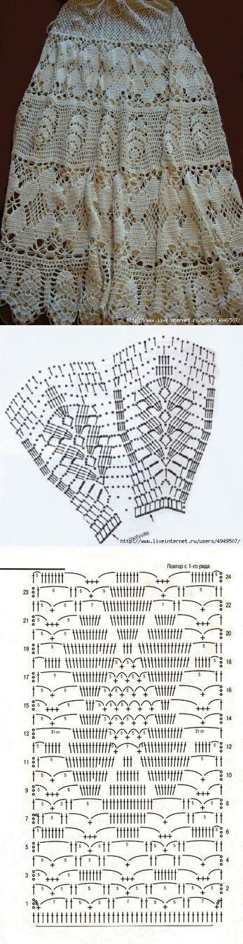 Шелковая юбка | вязание | Постила