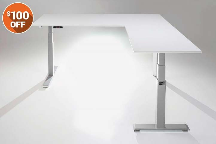 The Mod E Pro Electric L Shaped Standing Desk Best Standing