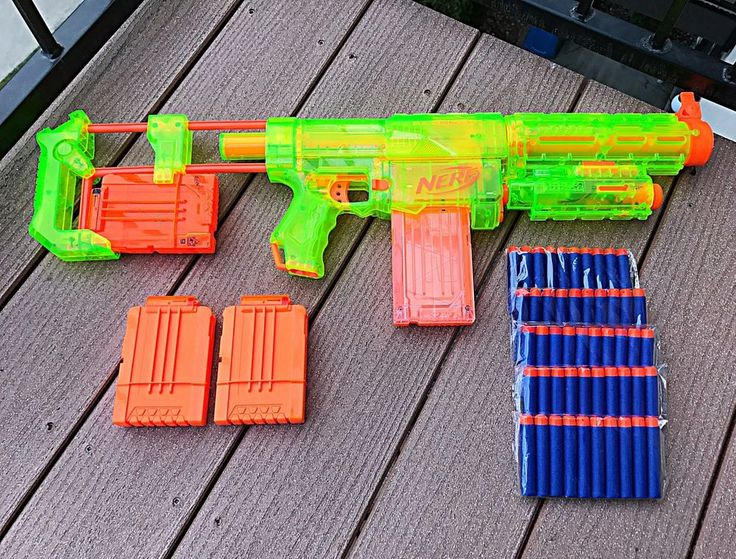 Nerf N-Strike Recon CS-6 Sonic Green Excellent Condition  | eBay