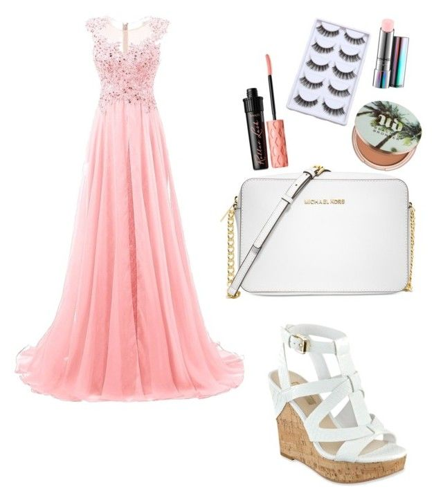 """Get ready for prom"" by yasmin-bach-rasmussen on Polyvore featuring GUESS, Michael Kors, Benefit, Urban Decay and MAC Cosmetics"