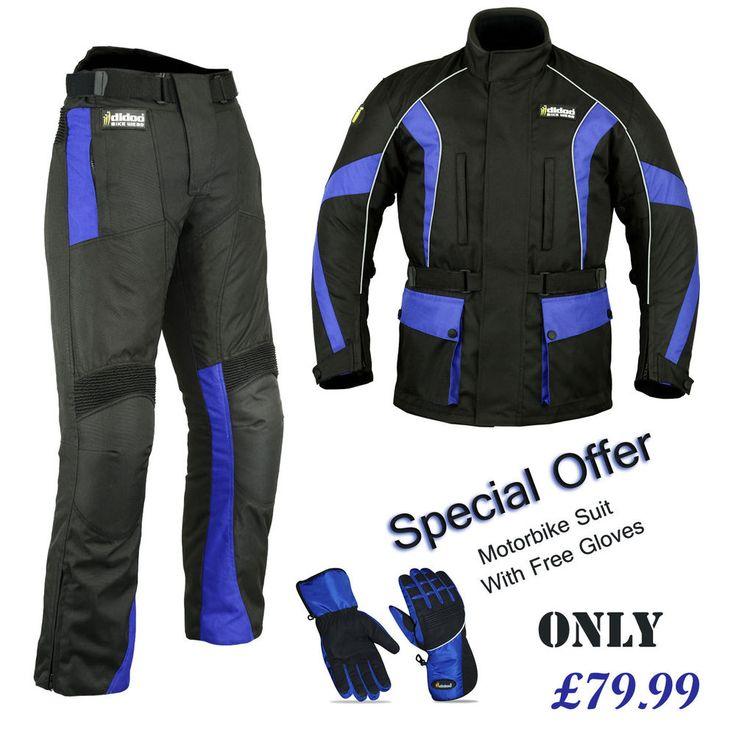 Nuevo Para Hombre Moto Suit Cordura textiles Chaqueta Impermeable Pantalones De Moto Kit   eBay