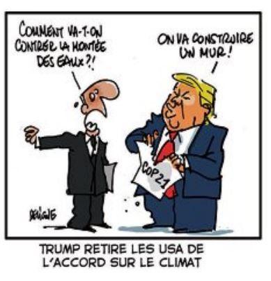 Trump retire les USA de l'accord sur le climat