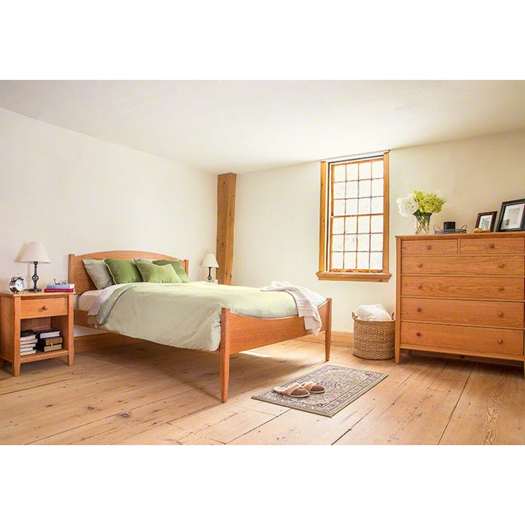 Our Vermont Made Shaker Moon Bed Features Clean, Simple Lines, Tapered Legs  And
