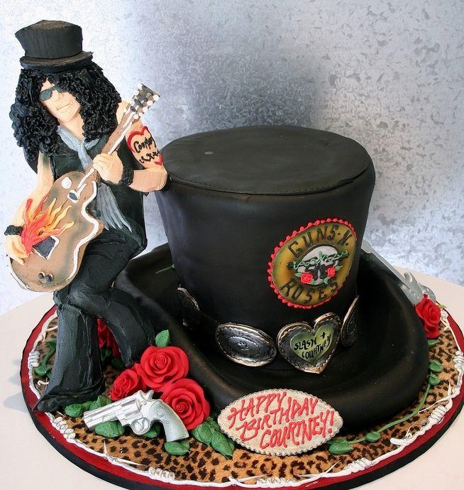 Slash Guns N Roses Birthday Cake Cake Birthday Cake
