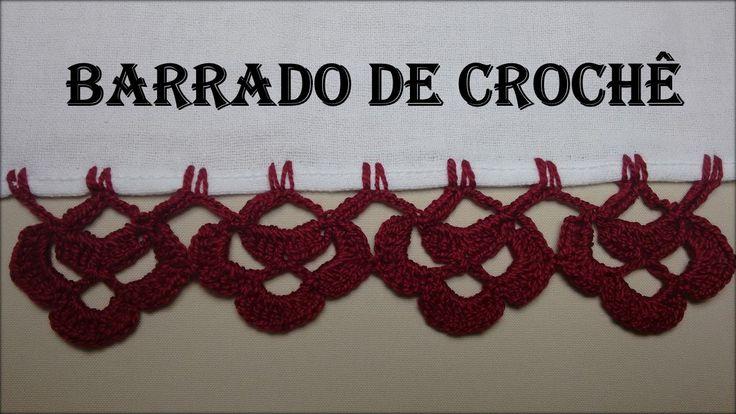 Barrado de Crochê Carreira Única # 01