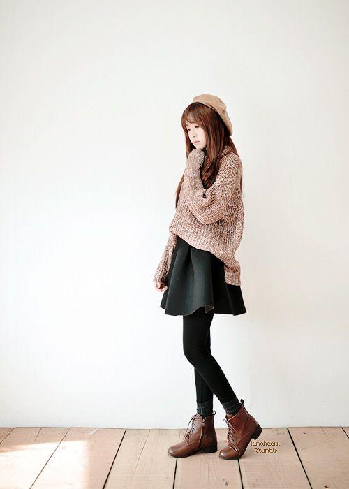 heart the leggies + bulky sweater 4 winter