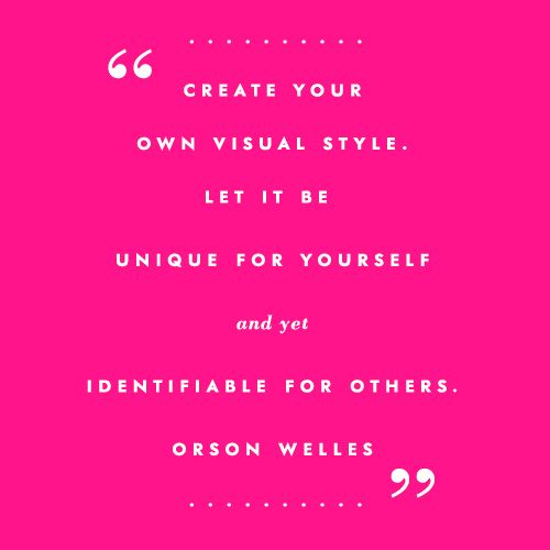 on your own style | via kate spade