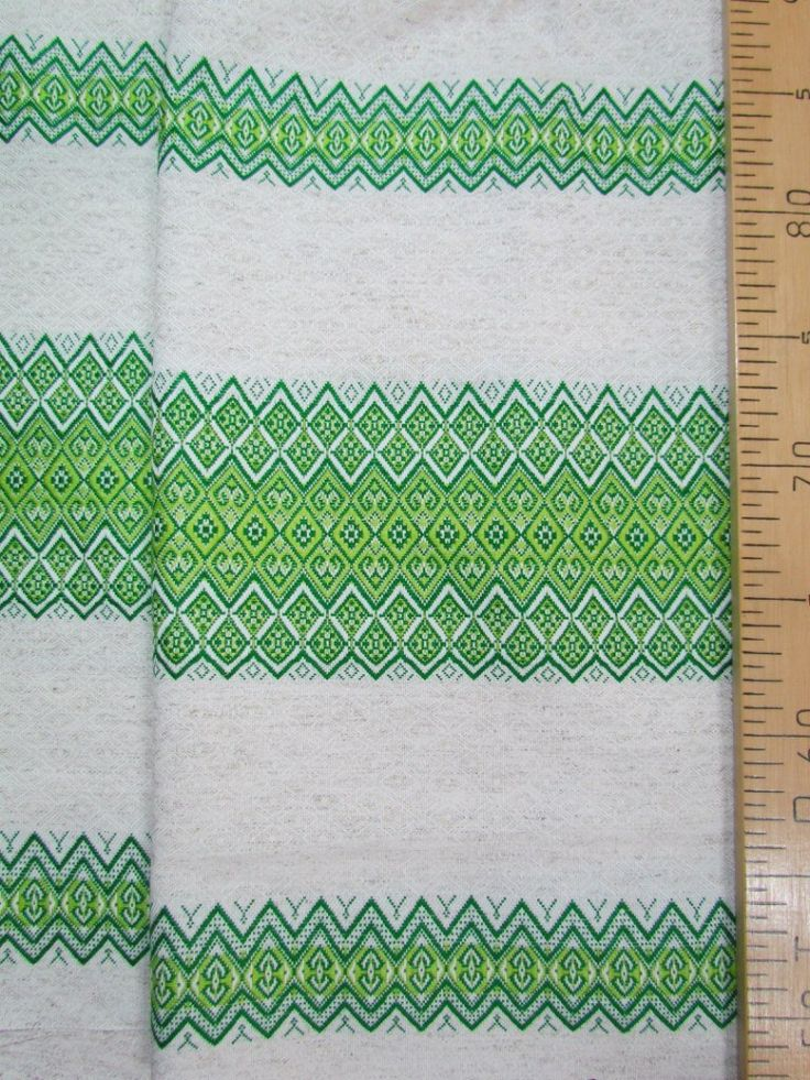 """ткань """"Забава"""" зеленая Двухсторонняя.ширина 1,5м. цена 750руб.п/метр Ткани с народным орнаментом подходят для пошива традиционной и повседневной одежды, создания уюта."""