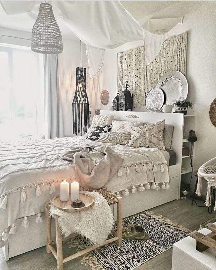 Boho Style Ideen für Schlafzimmerdekore – Balkon Gemütlich
