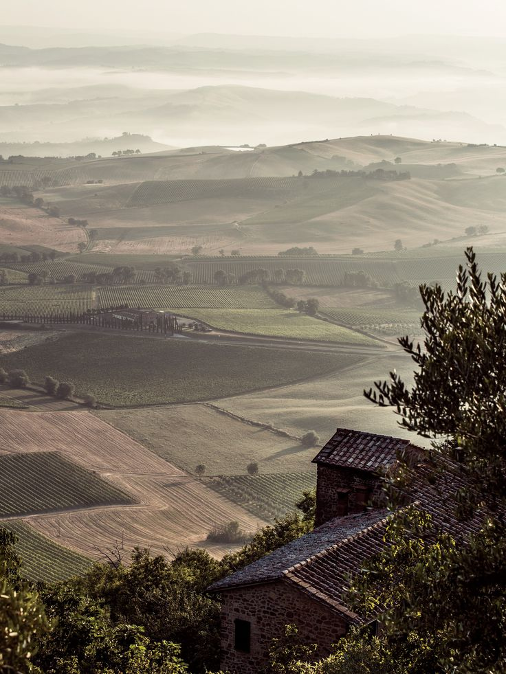 A view from Montalcino, Tuscany. | How to Plan a Road Trip Through Tuscany - Condé Nast Traveler