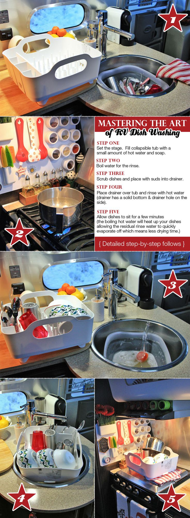 Mastering the Art of RV Dish Washing in a Single Sink...WOW!