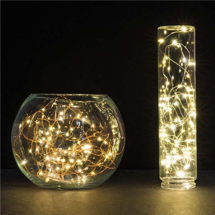 10 M 100 LED batterie étanche led fil de cuivre jeu de lumières de noël de mariage décoration guirlande bande blanc chaud/froid blanc dans LED Chaîne de Lumières et Éclairage sur AliExpress.com | Alibaba Group